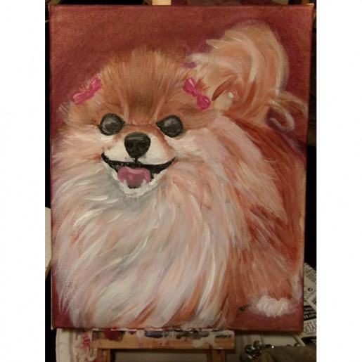 5x7 Acrylic Painting Commission Pet Portrait