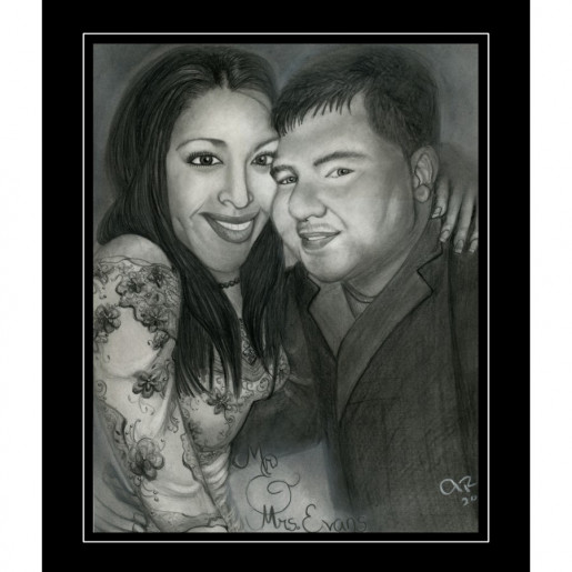 Charcoal Drawing Commission Portrait