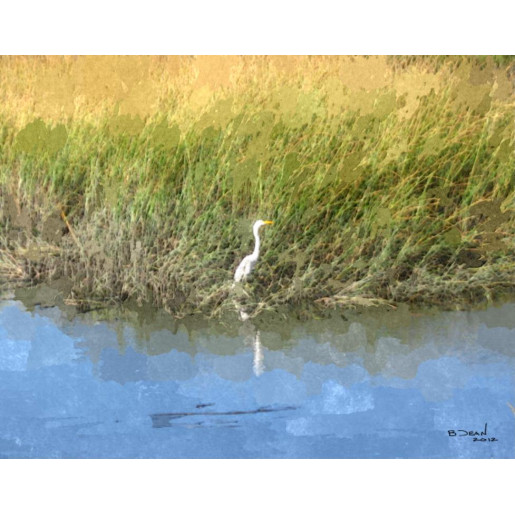 Heron at Magnolia Print