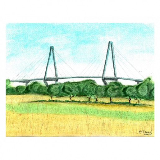 View of Arthur Ravenel Bridge from Magnolia Print