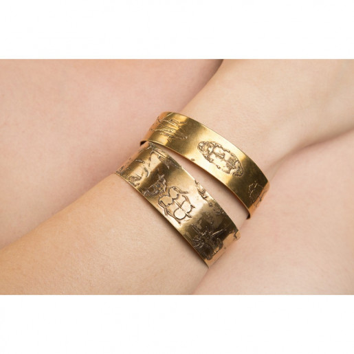 Etched Beetle Cuffs