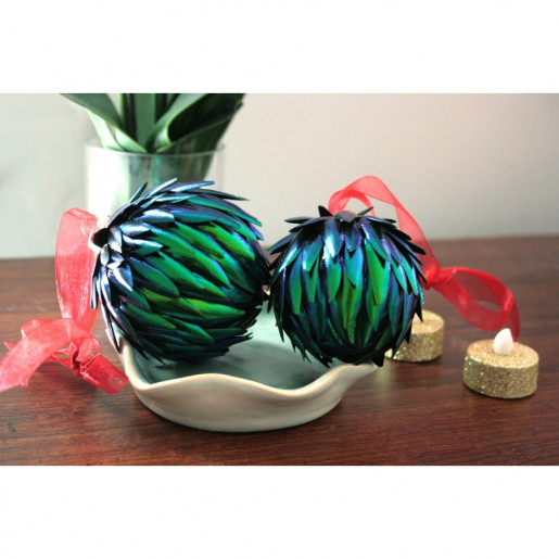 Beetle Wing Christmas Ornament