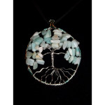 Amazonite Gemstone Tree of Life Necklace