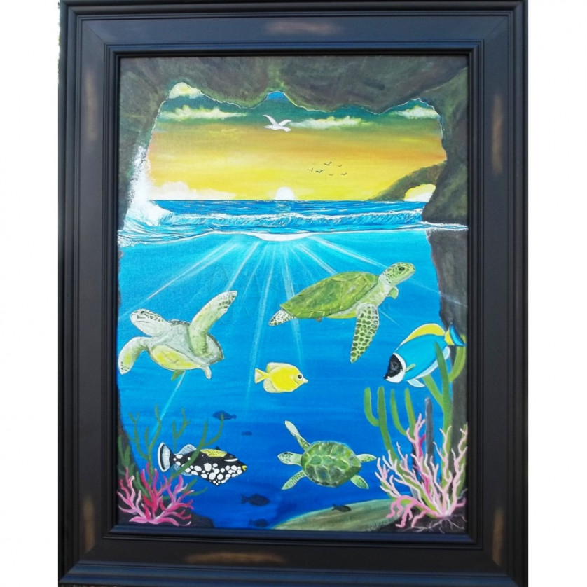 Marine life series 3 turtle cove oldacre 39 s arts and for Sea life arts and crafts