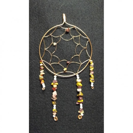 Copper, Howlite and Mookaite Native American Dreamcatcher