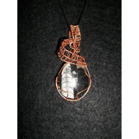 Wire Wrapped Orthoceras Fossil Pendant