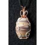 Wire Wrapped Ribbon Jasper Gemstone Pendant