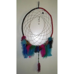 Rainbow Feathered Native American Dreamcatcher