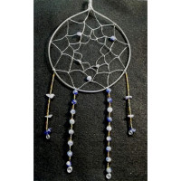 Wire Wrapped Sodalite Gemstone Native American Dreamcatcher