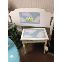Princess headboard & side table