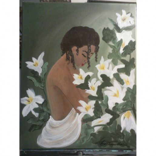 Nude in a field of Lillies