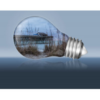 Pier in a Lightbulb