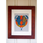 Love Birds Original Screen Print Blue (Matted)