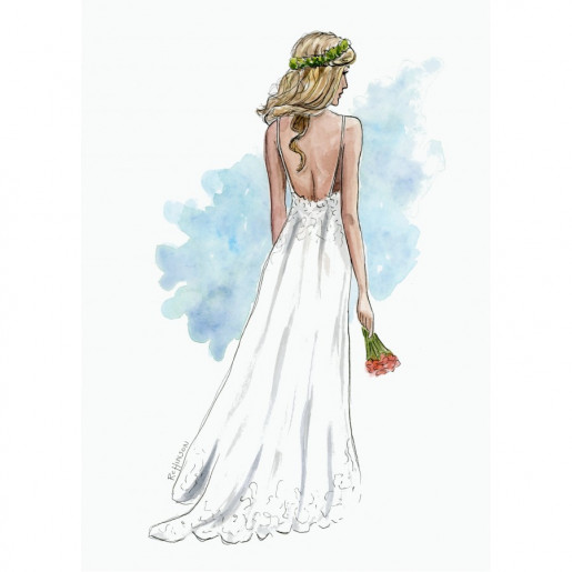 Rebecca Hinson Bridal Illustration Commission