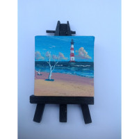 """Morris Island Light"" Original Miniature"