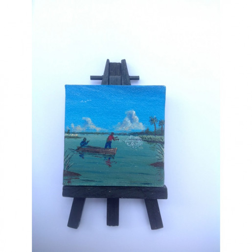 """Catchin' De Swimps"" Original Miniature"