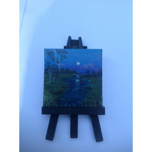 """Blue Moon"" Original Miniature"