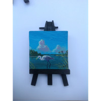 """Great Blue Heron"" Original Miniature"