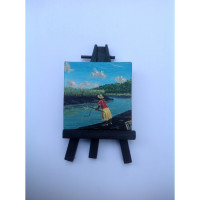 """Catchin De Crab"" Original Miniature"
