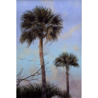 """Palms and Pelicans"" Giclee or Matte"