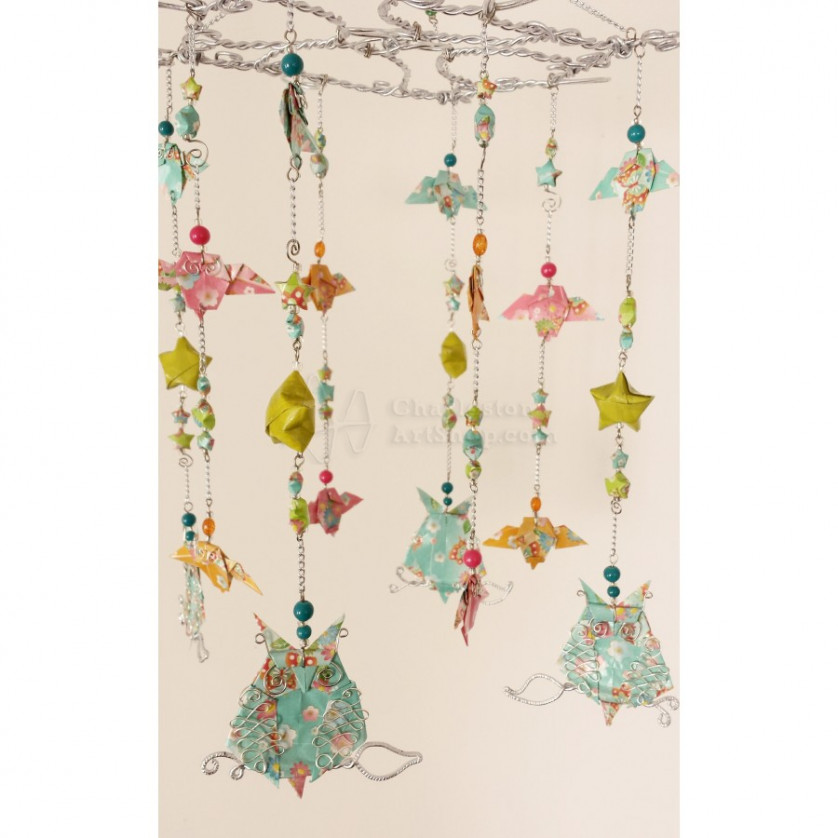 Whimsical Origami Baby Mobile With Owls And Stars Stellar Origami